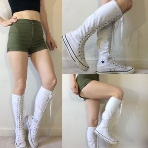 Converse All Star Knee High White Athletic Boots